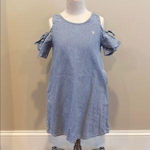 Guess Girl's Denim Striped Dress EUC